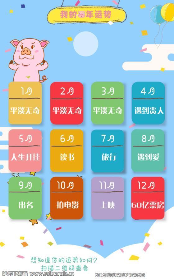 2019猪年测运势1.0.1版本模块