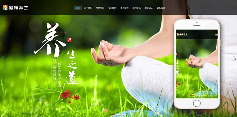 自响应式经络养生健康类网站织梦模板自适应手机端