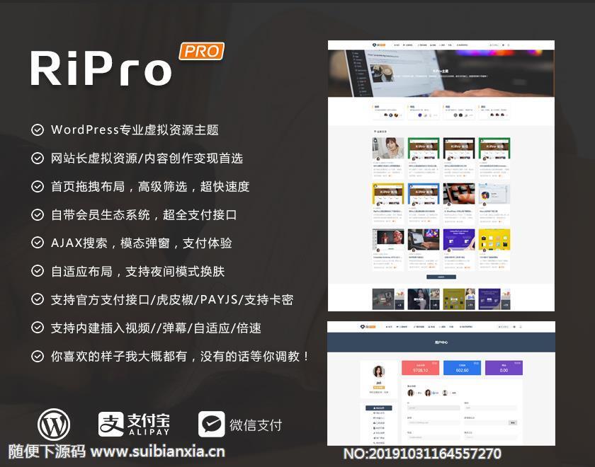 WordPress主题,Ripro 4.0版本 日主题,免SG11版