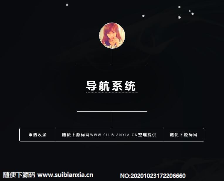 PHP开发技术导航系统网站源码带后台
